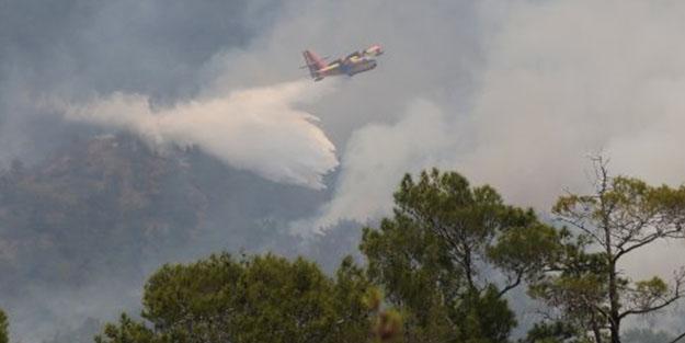 7 helikopter ve 4 uçağın kullanıldığı yangın kontrol altına alındı