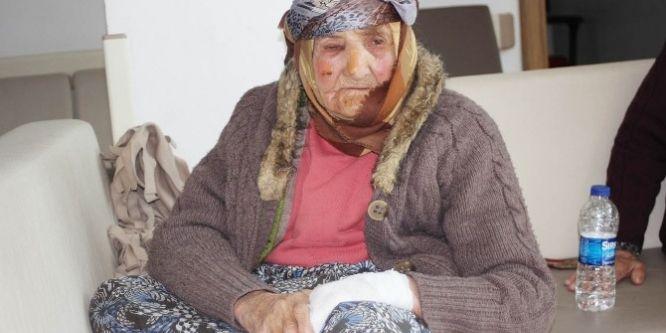 Evi yanan kadına devlet sahip çıktıı