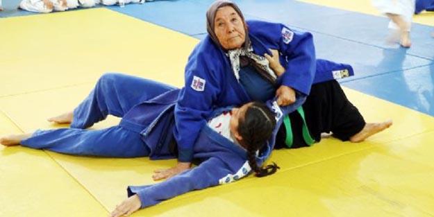 80 yaşında judocu olan teyze şaşkınlığa yol açtı!