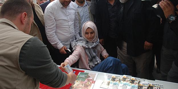 81 ilde kalpler Gazze için attı