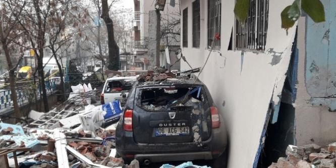 Ankara'da doğalgaz patlamasındaki yıkımın büyüklüğü gün ağarınca ortaya çıktı
