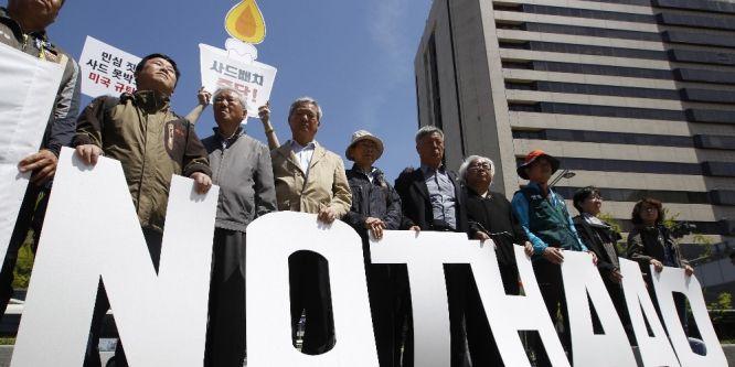 Güney Korelilerden THAAD füze sistemine protesto
