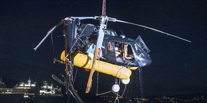 Norveç'te denize düşen helikopter bugün çıkarıldı