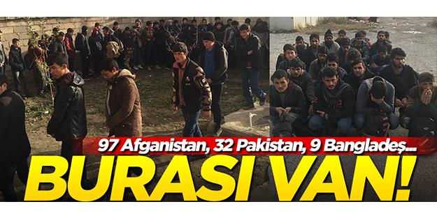 97 Afganistan, 32 Pakistan, 9 Bangladeş... Burası Van!