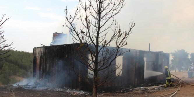 Yangının ormana sıçraması önlendi.