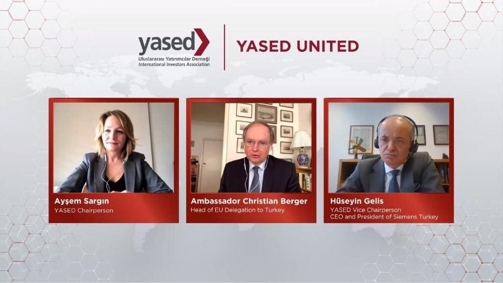 AB Türkiye Delegasyonu Başkanı Büyükelçi Christian Berger YASED United'ın konuğu oldu