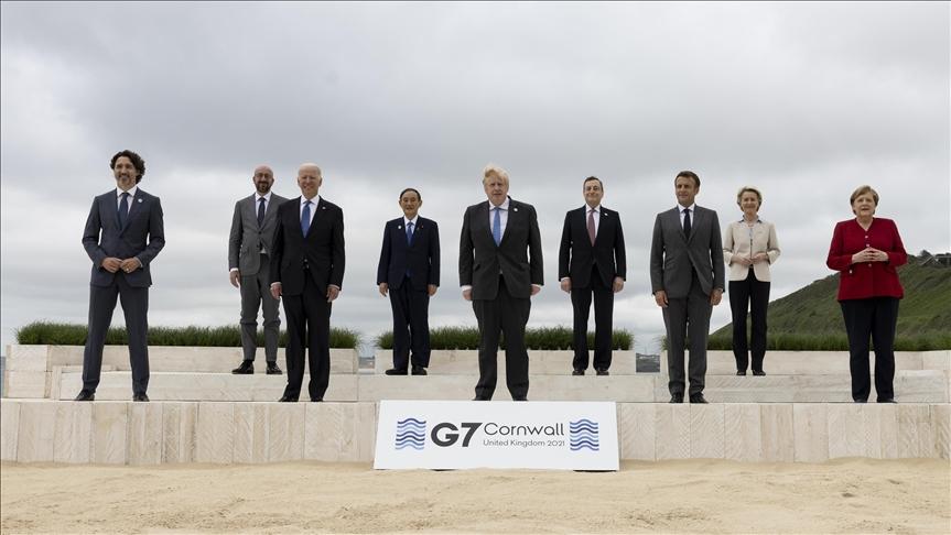 ABD Başkanı Biden, G7 Liderler Zirvesi'nde İngiltere, İtalya ve Japonya başbakanlarıyla görüştü