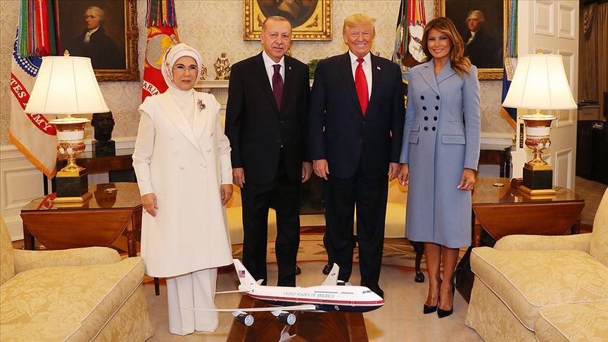 ABD Başkanı Trump Başkan Erdoğan'ın ziyareti esnasındaki aile fotoğrafını paylaştı