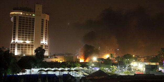 ABD, 'Büyükelçiliğimizi koruyun' demişti! Füzeler ile saldırı düzenlendi