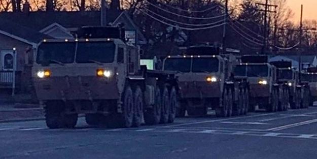 ABD ordusu sokağa indi! Koronavirüs salgını sonrası harekete geçtiler