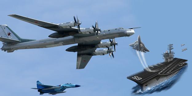 ABD-Rusya savaşı kapıda! Rus bombardıman uçağına engelleme