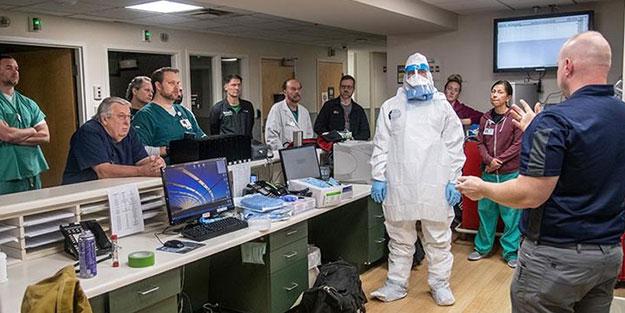ABD'de dehşete düşüren görüntüler! Sağlık çalışanları artık çöp poşeti giymeye başladı