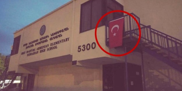 ABD'de gündeme bomba gibi düşen görüntü! Türk bayrağı asıldı