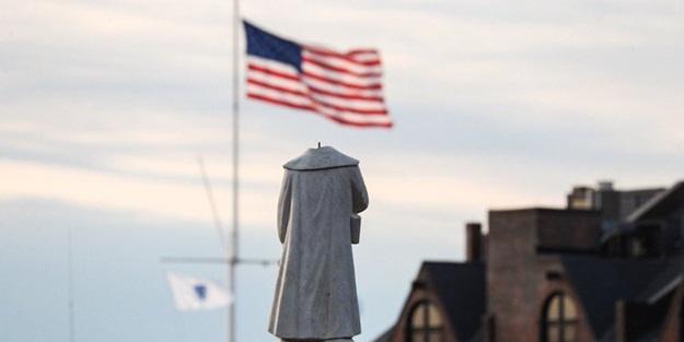ABD'de 'Kristof Kolomb' şoku! Heykelin yanında bulundu
