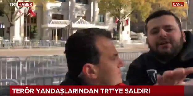 ABD'de PKK'lı teröristlerden TRT Haber muhabirine alçak saldırı!