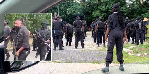 ABD'de savaş kapıda! Sokağa inen silahlı gruptan açık çağrı