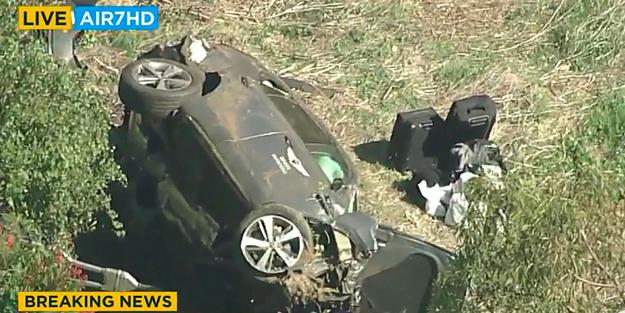 ABD'li ünlü golf sporcusu Tiger Woods trafik kazası geçirdi