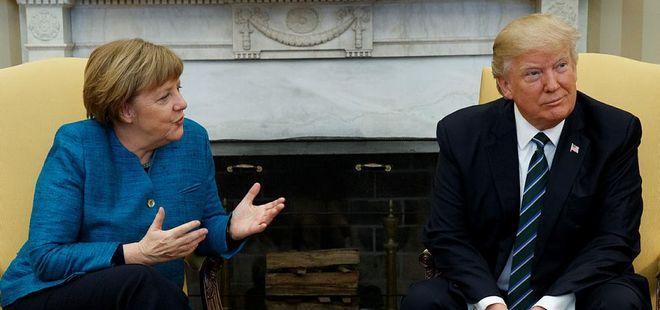 Açıklama geldi! Trump Merkel'in elini neden sıkmadı?