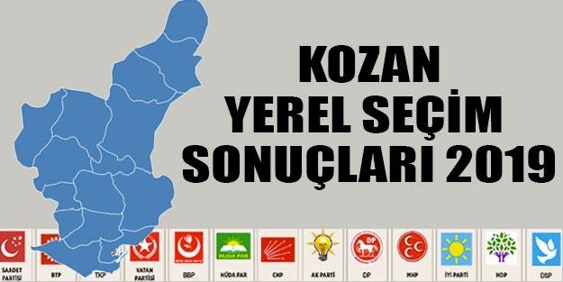 Adana Kozan yerel seçim sonuçları 2019 Kozan Cumhur ittifakı-Millet ittifakı oy oranları