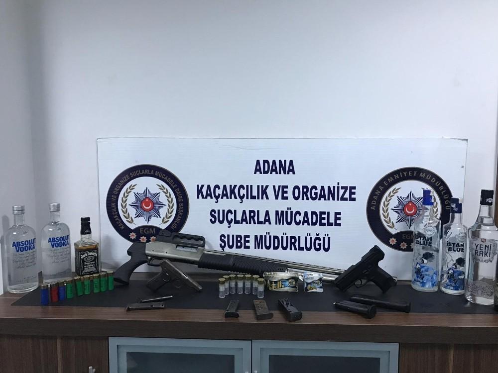 Adana'da 500 polisle sahte ve kaçak içki operasyonu