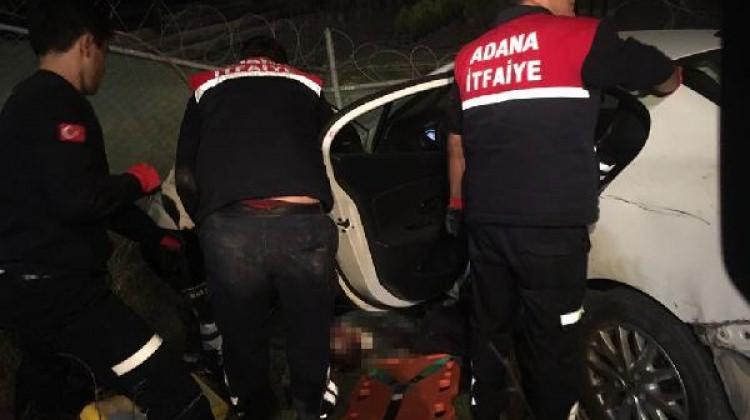 Adana'da otomobil şarampole uçtu: 1 ölü, 1 yaralı
