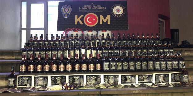 Adana'da sahte içki operasyonu: 2 gözaltı