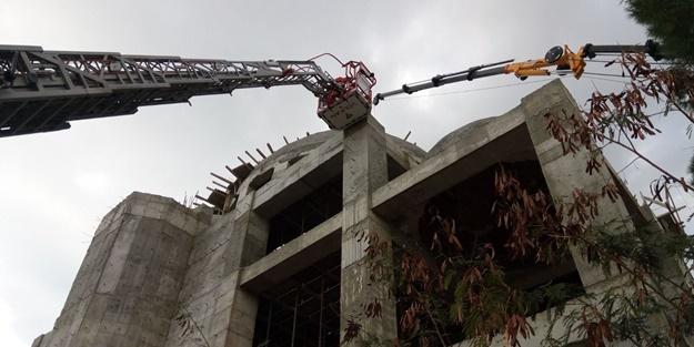 Adana'daki cami inşaatında korkunç olay