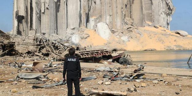 AFAD Beyrut'ta arama kurtarma çalışması yapıyor