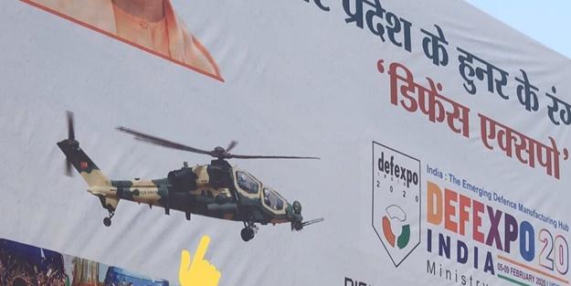 Afişleri asıldı! ATAK helikopteri Hindistan sokaklarında