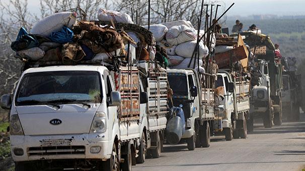 Afrin ve köylerinde teröristlerin baskısı altındaki sivillerin kaçışı devam ediyor