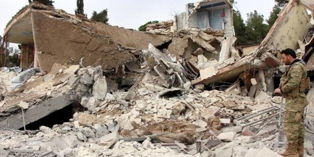 Afrin'deki PYD/PKK'nın eğitim kampı havaya uçuruldu