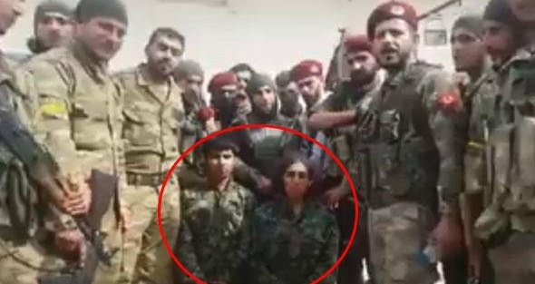 Afrindən son görüntü : Əsir götürülən 2 PKK/YPG-li terrorçu (Foto)