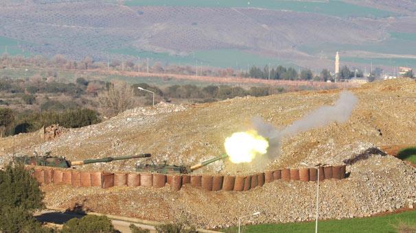 Afrin'e 40 top atışı yapıldı