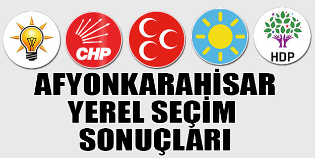 Afyonkarahisar yerel seçim sonuçları 2019   Afyonkarahisar ilçeleri yerel seçim sonuçlar
