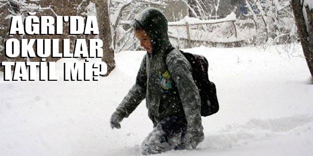 Ağrı'da okullar tatil mi? Ağrı'da yarın okullar tatil mi?