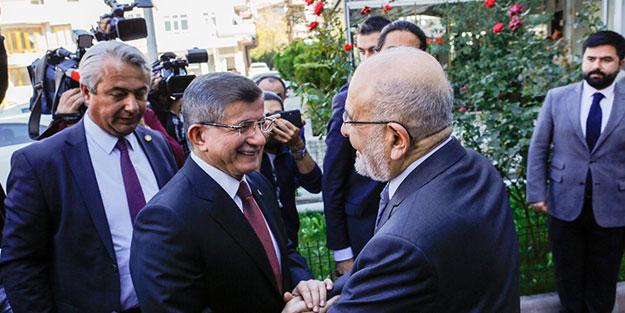 Ahmet Davutoğlu, Temel Karamollaoğlu'nu ziyaret etti