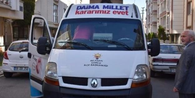 AK Parti aracına alçak saldırı! Şoför darp edildi