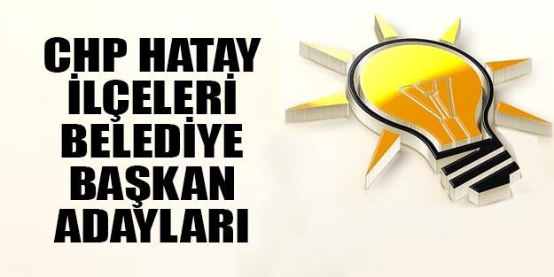 AK Parti Hatay ilçe belediye başkan adayları 2019