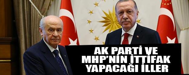 AK Parti ile MHP hangi illerde yerel seçim ittifakı yapacak?