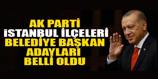 AK Parti İstanbul belediye başkan adayları 2019