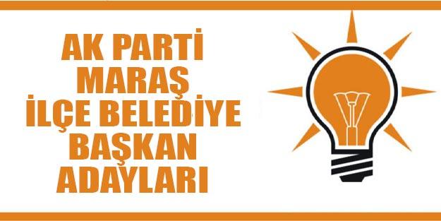 AK Parti Kahramanmaraş ilçe belediye başkan adayları 2019 yerel seçim