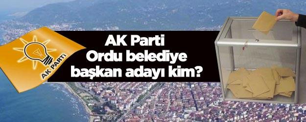 AK Parti Ordu belediye başkan adayı kim 2019