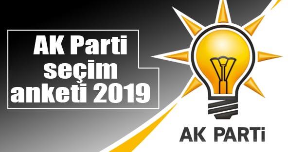 AK Parti seçim anketi 2019 Yerel seçim anket sonuçları Ankara