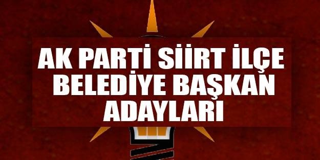 AK Parti Siirt ilçeleri belediye başkan adayları 2019