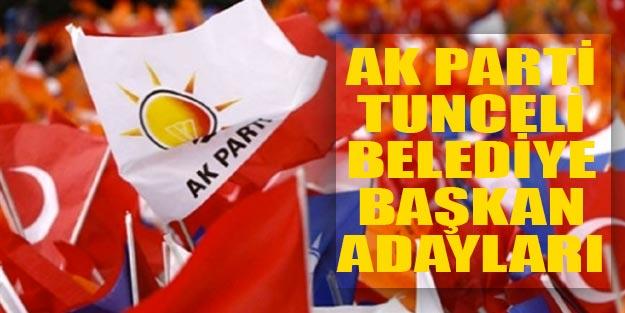 AK Parti Tunceli belediye başkan adayları yerel seçim 2019