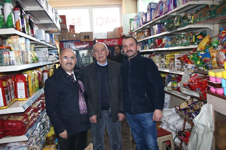 AK Partili Belediye Başkanı esnafı ziyaret etti