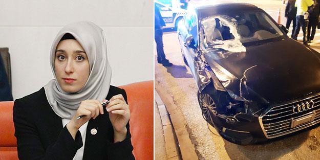 AK Partili milletvekili Rümeysa Kadak trafik kazası geçirdi!