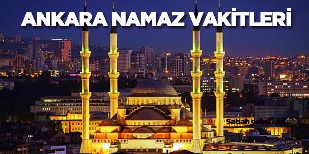 Ankara namaz vakitleri diyanet Ankara ezan saatleri