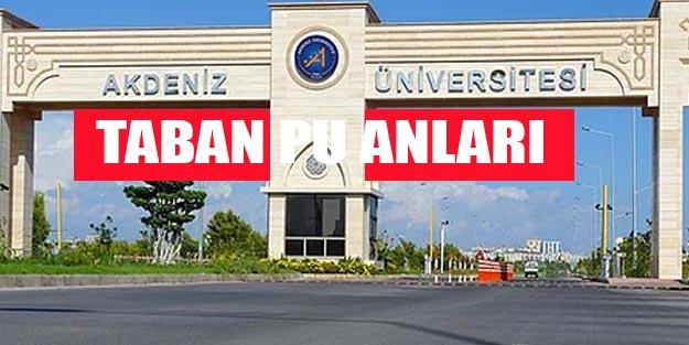 Akdeniz Üniversitesi taban puanları 2019