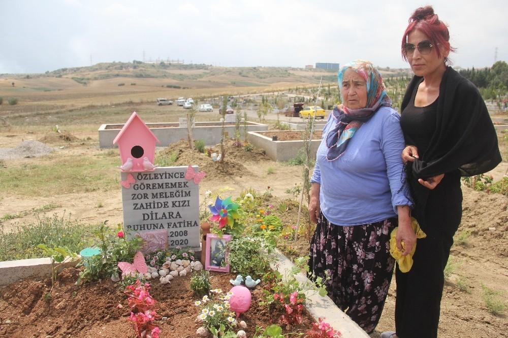 Akıma kapılarak ölen kız çocuğunun son görüntüleri yürek yaktı